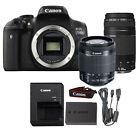 Canon EOS 750D / T6i 24.2MP DSLR Camera + 18-55mm IS STSM + 75-300mm Lens Kit