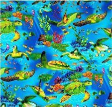 Sea Turtles Patchworkstoffe Stoffe Schildkröten Tiermotive Patchwork Tiere Meer