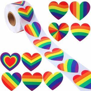 Happy Valentines Day Love Heart Labels Stickers Gift Craft Sticker Pride LGBT