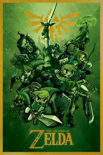 ZELDA -LINKS 24X36 POSTER WALL ART GAMING VIDEO GAME NINTENDO PLAYSTATION TECH!!