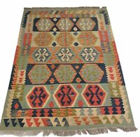 Premium Handmade AFGHAN Kilim Rug, Chobi Kilim Upto 50% Off RRP! Size 198x152 CM