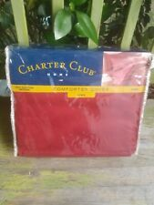 Charter Club Home Aiden King Size Comforter Duvet Cover 100% Cotton Sateen New