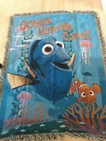 "Disney Pixar Finding Nemo Tapestry Blanket Throw Dory 46"" x 60"" Decorative"