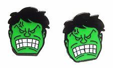 The Incredible Hulk Character Metal/Enamel Stud Earrings