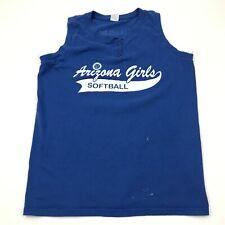 VINTAGE Arizona Girls Softball Jersey Tank Top Women Size Large Sleeveless Shirt