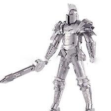 2016 3D Metal Puzzle Black Knight Armor Soldier Models DIY Laser Cut Jigsaw Toys