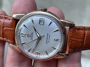 OMEGA SEAMASTER CALENDAR AUTOMATIC DIAL 14K ROSE GOLD CAP & STAINLESS STEEL 503