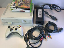 Xbox 360 No Hdd Console Bundle with 6 Games and Controller Actually Tested