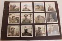 "Lot original Fotos WWI 1. Wk Offiziere? Portraits Schulterstück ""H"" Militär"