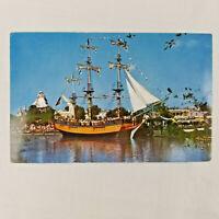 "Vintage Postcard Disneyland Magic Kingdom Anaheim California ""Columbia"" Frontier"