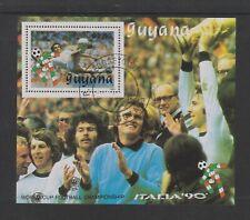 Guyana - 1990, Italia '90 World Cup Football, West Germany sheet - F/U