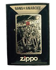 Zippo Custom Lighter Sons of Anarchy SOA Anarchy Reaper Street Chrome Pocket