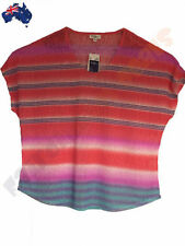 Millers Polyester Short Sleeve Striped Tops & Blouses for Women