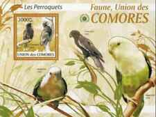 Timbre Oiseaux Perroquets Comores BF204 ** année 2009 lot 28623 - cote : 21 €