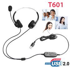 Audio T601 PC Clear Headset 41MW-84MW Output 2M Wire Rotating Microphone Boom