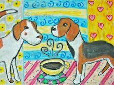 American Foxhound, 5 x 7 Dog Fine Art Print, Modern Home Decor