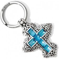 NWT Brighton THE WAY Blue BLUE Crystal Key Fob Chain Pendant   MSRP $60