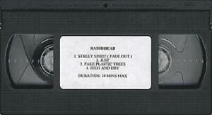Radiohead 4 Track Compilation video (VHS or PAL or NTSC) UK promo PROMO VIDEO