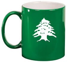 11oz Ceramic Coffee Tea Mug Glass Cup Cedar Tree Lebanon Lebanese