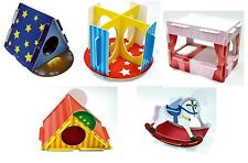 5 x Hamster Gerbil Mouse Play n Chew Cardboard Toy Bed Tent Slide Rocking