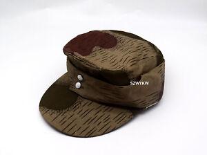 REPLICA WWII WW2 GERMAN ARMY ELITE M43 SPLINTER CAMO B HAT FIELD CAP 60cm