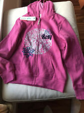 NWT - Roxy Girls Hooded Pink Sweatshirt - Size 14-16