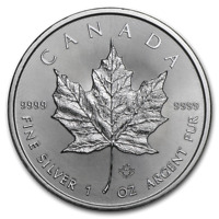 Pièce Argent 1 Once Canada 2019 Maple Leaf 1 Oz Silver Coin 5$