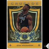 Zion Williamson RC 2019-20 Prizm Draft Picks Crusade Neon Orange #/149 Pelicans