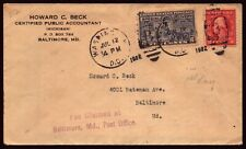 Scott E12 10 Cents Special Delivery FDC Typed Address
