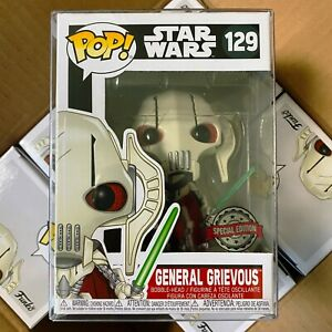 Funko Pop Star Wars : General Grievous #129 Special Edition w/Pop Protector MINT