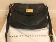 MarcBy Marc Jacobs BLACK Classic Q NATASHA Leather Crossbody Bag Medium