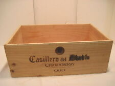 OLD VINTAGE WOOD-WOODEN CASILLERO DEL CHARDONNAY CHILI WINE BOX CRATE