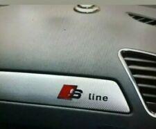 1x Audi S line 3D Emblem Sline aluminum