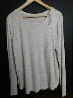 NWT Gap Women's Luxe Long Sleeve Oatmeal Top T-Shirt M L & XXL MSRP $30 New