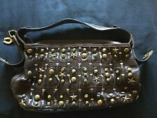 Betsey Johnson 100% Dark Brown Leather Handbag