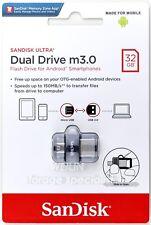 SanDisk 32GB Ultra Dual Drive M3.0 150MB/s micro-USB OTG USB 3.0 Flash Drive 32G