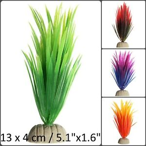 Aquarium Artificial Plant Fish Tank Plastic Silk Grass Weed Bush Decoration Gift