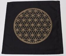 "Sacred Geometry Crystal Grid Cloth Flower of Life (Gem Grid) 12"" x 12"" Altar"