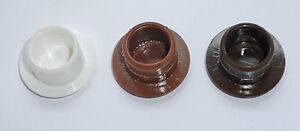 WHITE, LIGHT & DARK BROWN 12mm PLASTIC COVER CAP CAPS for 12mmØ BLIND HOLES