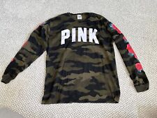 Victoria's Secret PINK Camo Floral Roses Long Sleeve Top XS