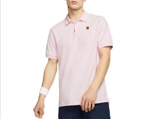 Nike NikeCourt Tennis Short Sleeve Men Polo Shirt Dri-Fit Pink CJ9524 663