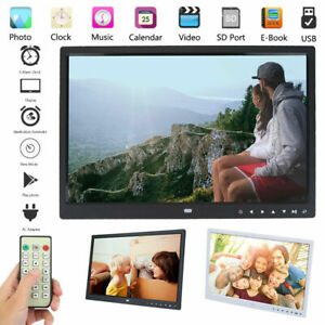 15 inch HD LED Digital Photo Frame Remote Control Clock Picture Movie MP4 Player