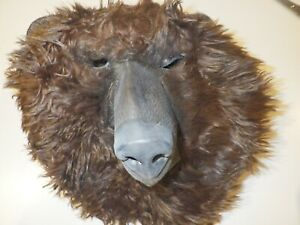 AQKILO Plush Brown Bear Mask, Halloween Carnival Masquerade Party and Carnival