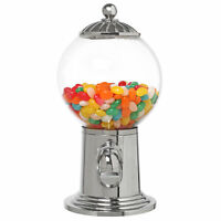 10-Inch Desktop Refillable Gumball Machine, Candy Dispenser, Clear Acrylic Globe