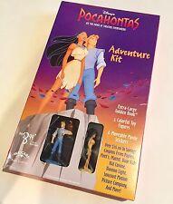 Vtg 1995 Disney Pocahontas Figurine XL Golden Book Toy Adventure Kit New In Box