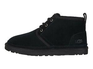 UGG NEUMEL BLACK Men's Suede Low Chukka Boots  3236