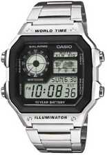 Casio Uhr AE-1200WHD-1AVEF Digital Uhr Edelstahl-Armband
