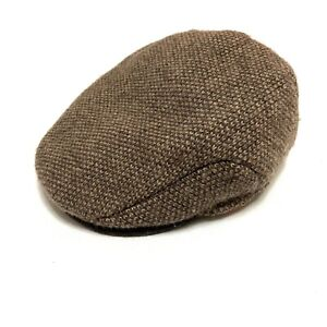 Vintage Polo Ralph Lauren Cabbie Newsboy Hat Cap Soft Wool Blend Tweed L / XL RL
