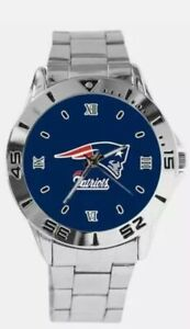 NEW ENGLAND PATRIOTS NFL Team Logo Stainless Steel Football Watch
