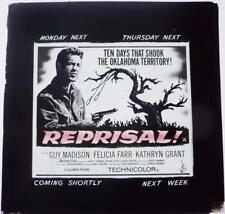 Cinema Magic Lantern Slide Guy Madison in Reprisal 1956 Movie Film